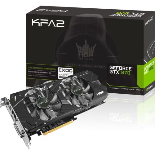 🔥 Carte graphique KFA2 GeForce GTX 970 Black Exoc Sniper Edition - 4Go à 197€ !! #bonplan