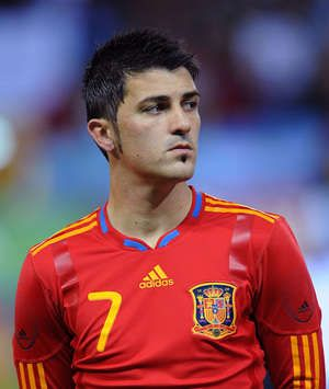 David Villa, Spain (Getty Images) Love the Spain jersey!