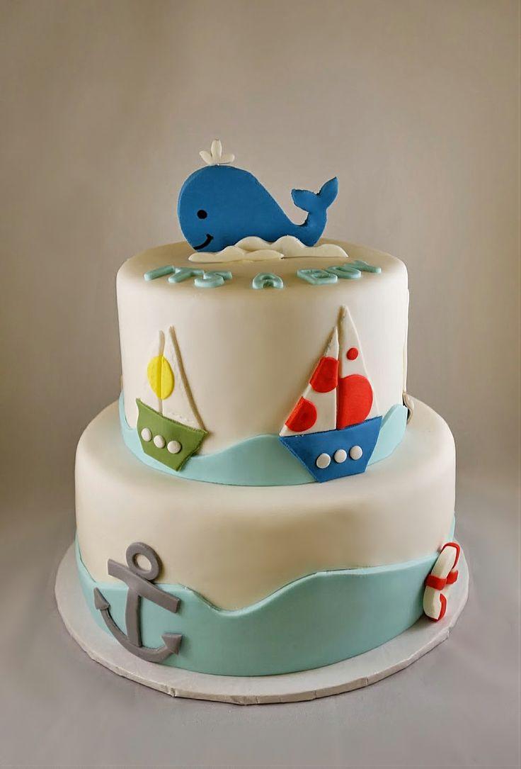 Nautical Whale Babyshower Cake