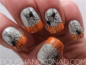 35 best spiders and web nail art images on pinterest halloween halloween nail art another spider web mani polish konad prinsesfo Choice Image
