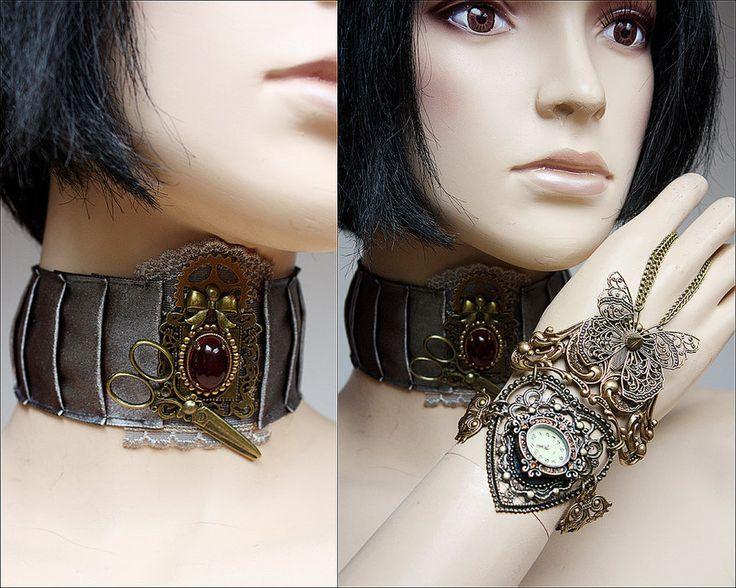 Watch and collar set by Pinkabsinthe on DeviantArt
