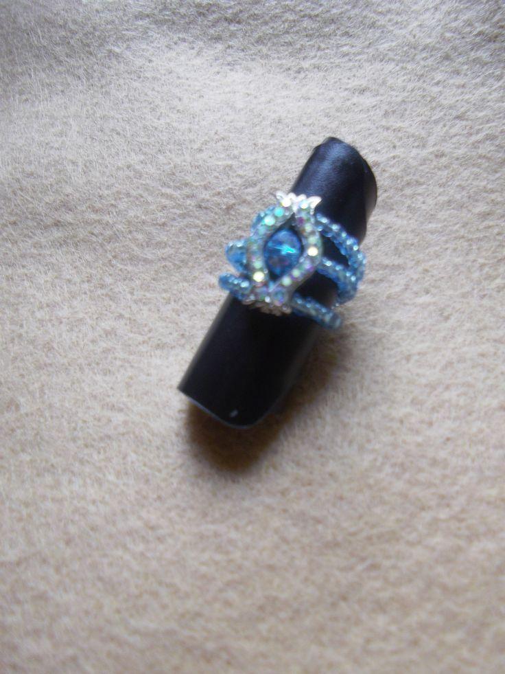 Triple 'Magic Stretch' Strand Aurora Borealis with matching Centre Swarovski Crystal