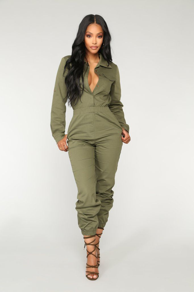 e0610ed368a Aviator Babe Jumpsuit - Olive in 2019