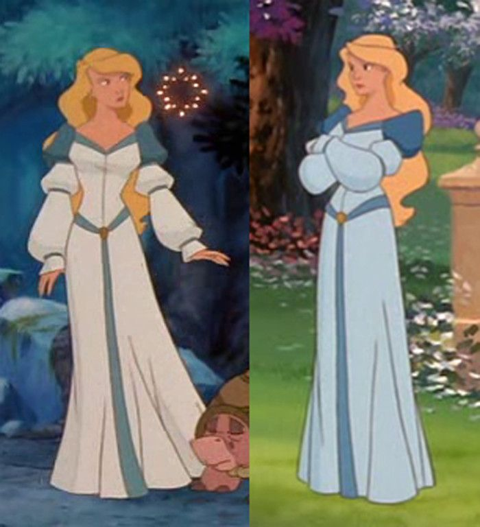Princess Odette from The Swan Princess - this is a perfect photo to model the dress after