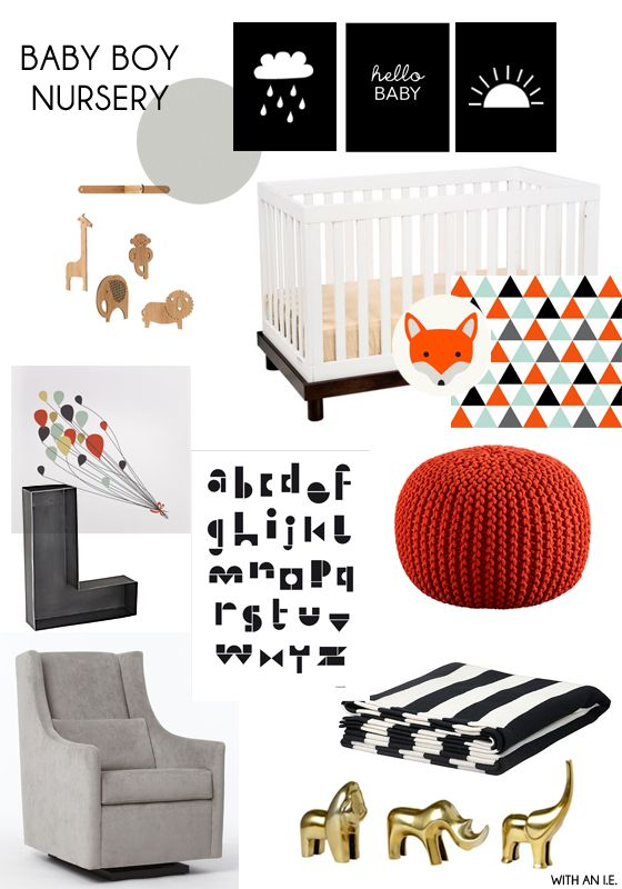 with an i.e.: Baby Nursery Idea Board