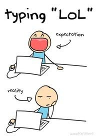 "typing ""lol"""
