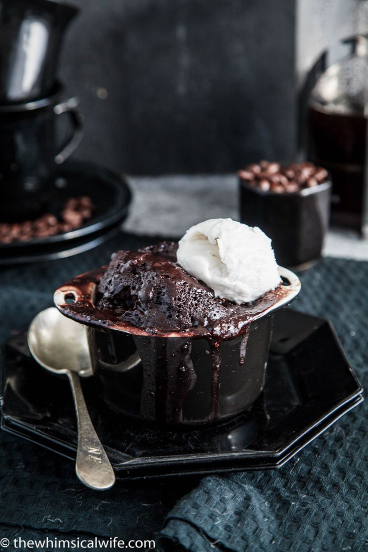 7 Minute Mocha Self-Saucing Pudding + Video | The Whimsical Wife