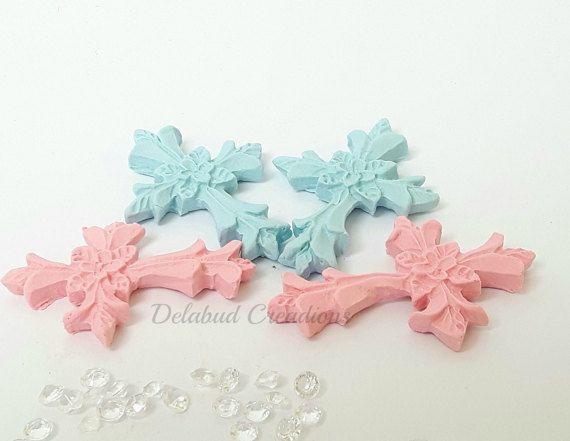 5 Handmade fimo cross embellishment  5cm x by DelabudCreations
