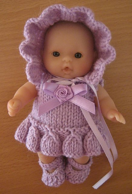 "Ravelry: 5"" Berenguer Frill Dress Knitting Pattern pattern by Tracey Devenney"