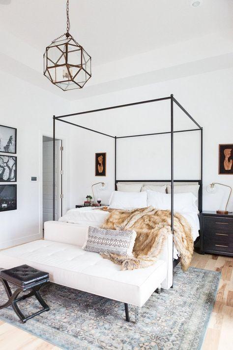 Coole Einrichtungsideen Schlafzimmer Himmelbett Metallrahmen Schwarz |  Schlafzimmer | Pinterest | Einrichtungsideen Schlafzimmer, Metallrahmen Und  ...