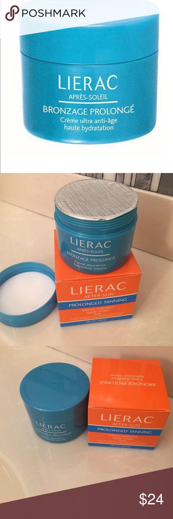 Lierac after-sun prolonged tanning body cream Brand new never opened intense hydration repair body cream lierac Makeup
