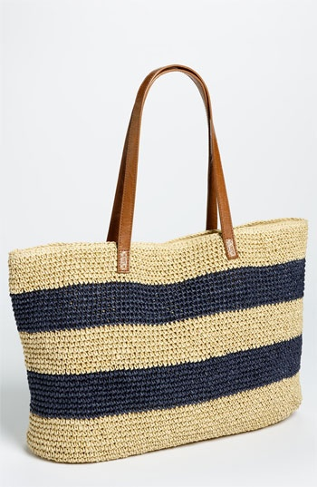 Straw Studios Stripe Straw Tote available at #Nordstrom