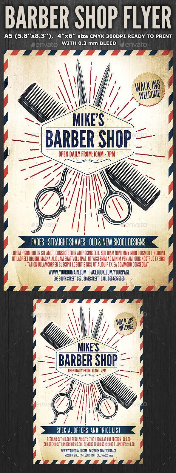 Barber Shop Flyer Template 3