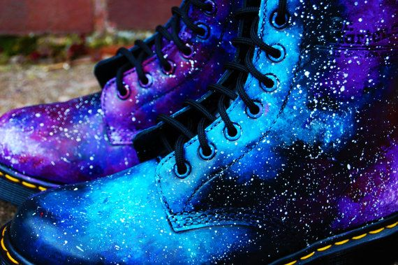 SUMMER SALE! Galaxy Cosmic Gothic Print Doc Dr Martens ...