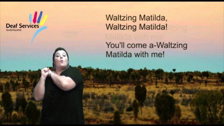 Waltzing Matilda in Auslan (Australian Sign Language)