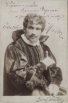 Katel HašlerVjedné ze svých rolí vNárodním divadle (1904)