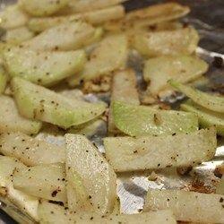 Roasted Kohlrabi (Throw in potatoes, ham steak, and carrots)