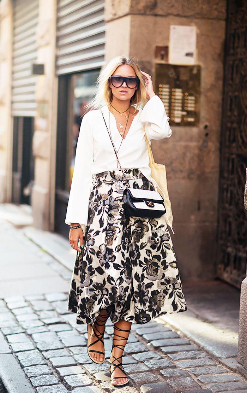 17 Best images about Pretty midi skirt on Pinterest   Full midi ...