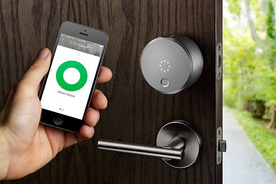 15 Buys For The Techie In Your Life  #refinery29  http://www.refinery29.com/tech-gifts#slide8  August Smart Lock   We've been waiting with bated breath for the Yves Behar–designed  August Smart Lock to hit shelves. And, now that it has, we can say with certainty that everyone is going to want one — even if they don't know it yet. The streamlined contraption locks to the inside part of your door and allows you to seamlessly lock or unlock it via the app on your phone. Need to let someone in…