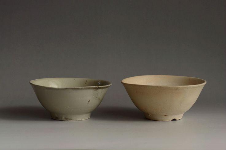 琉球白釉マカイ碗 19世紀