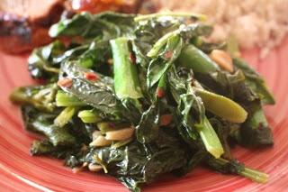delish in a dish: Miso Garlic Asian Greens