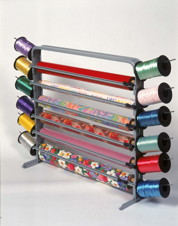 Six Roll Cello/cutter Box Dispenser With Ribbon Holders. Manufactured By  Bulman Products,. Wrapping Paper StorageWrapping ...