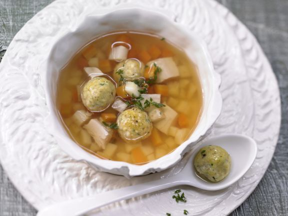Rich Chicken Soup with Matzo Balls and Vegetables | Eat Smarter