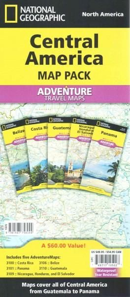 Central America Map Pack: North America: Costa Roca-Panama-Belize-Guatemala-Nicaragua, Honduras, and El S...