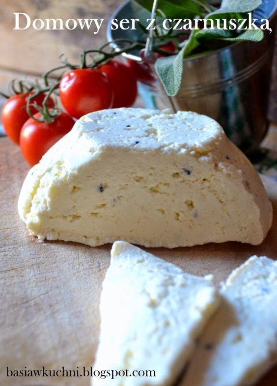 domowy ser z czarnuszką