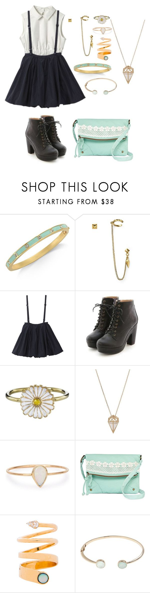"""Untitled #259"" by godlover-11 ❤ liked on Polyvore featuring Kate Spade, Diane Von Furstenberg, Miss Dora, Alison Lou, Noor Fares, Catbird and T-shirt & Jeans"