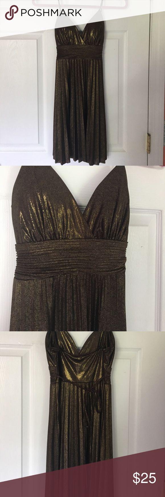 Gold/black Metallic Mini Dress Gold/black Metallic Mini Dress. Size Small. flamingo Dresses Mini