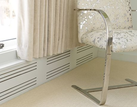 Great idea for baseboard covers if I ever end up with baseboard heat again!