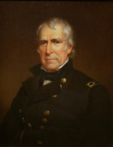 Official White House Portrait of Zachary Taylor ~ 12th President of the United States. (Term: 1849 - 1850)