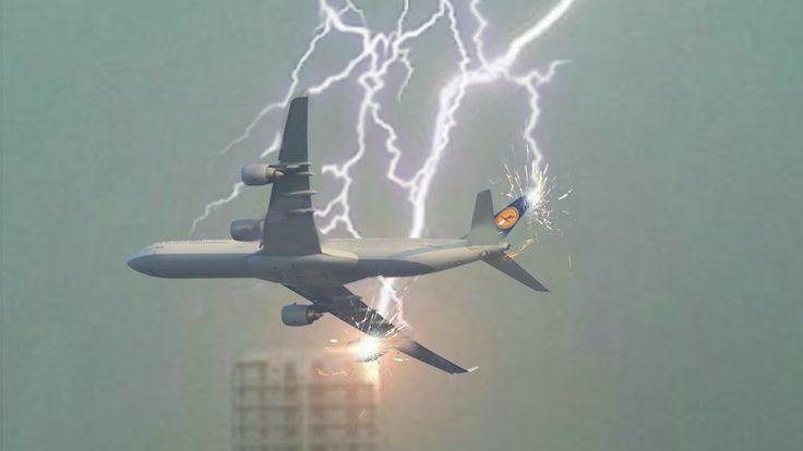 Aviões atingido por raios e relâmpagos ◆ Tempestades vs BOEING - AIRBUS