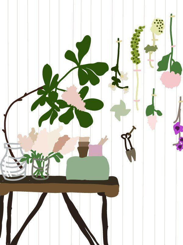 Flower room - illustrated by Anni Leppänen