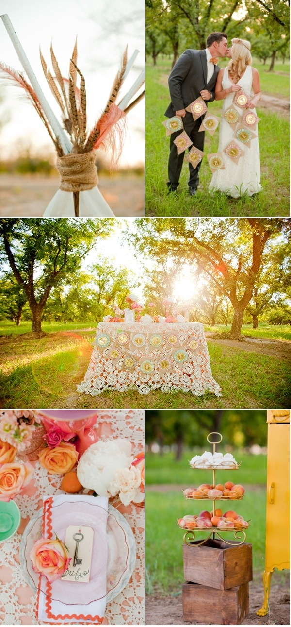 Bohemian Summer Inspiration Shoot by Elyse Hall Photography + Eventology Events + Butterfly Petals | Style Me Pretty