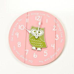 Twelve Timbers Small Clock with Owl Center ''Owl Always Love You''