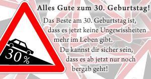 ᐅ Sprüche zum 30. Geburtstag - Herzliche und lustige
