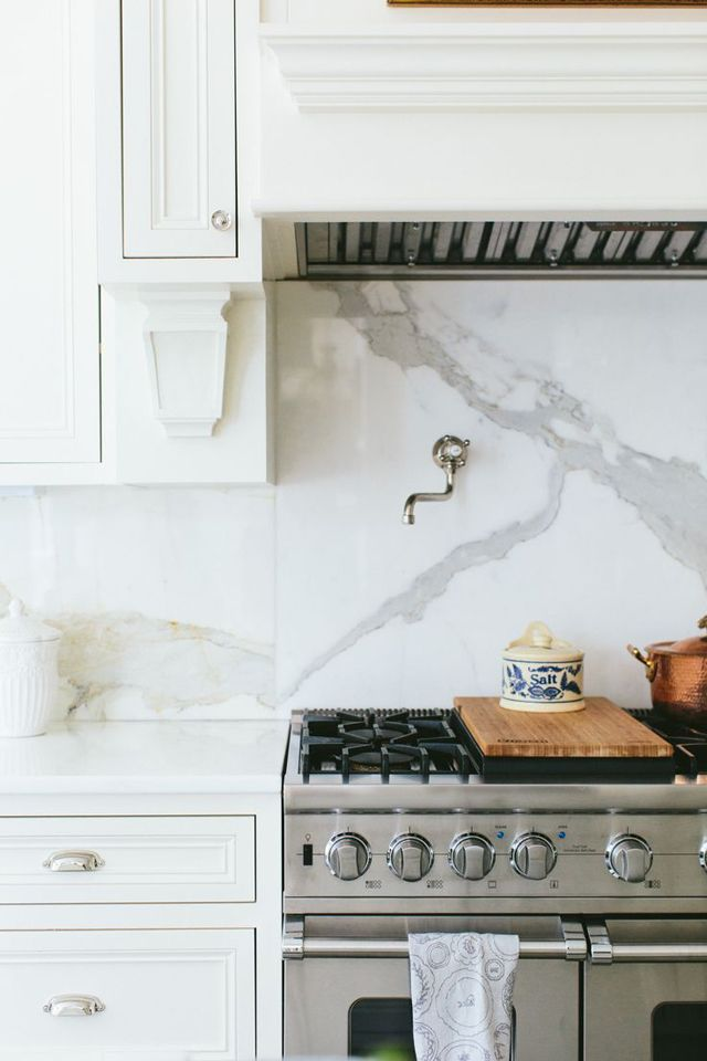 Wonderful One Piece Back Splash Behind Stove Content In