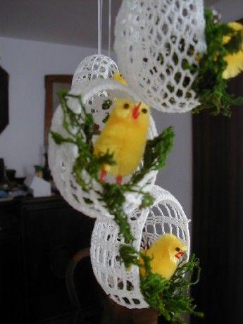 velikonoční háčkování
