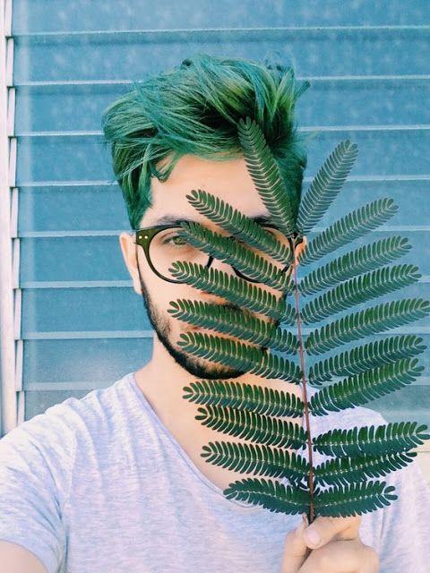 cabelo masculino verde