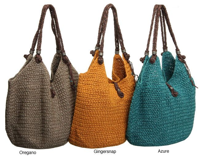 <li>Add a new element to your wardrobe with a crocheted tote bag</li><li>Women's accessory features crocheted design worked in two strands of bedspread-weight thread</li><li>Large handbag has three interior pockets</li>