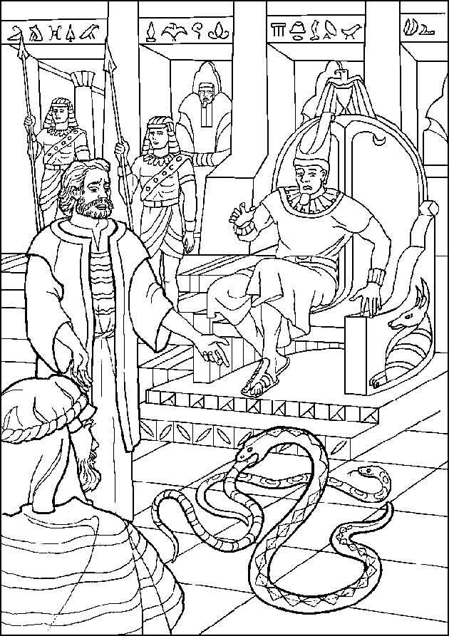 Moses Bible Coloring Page