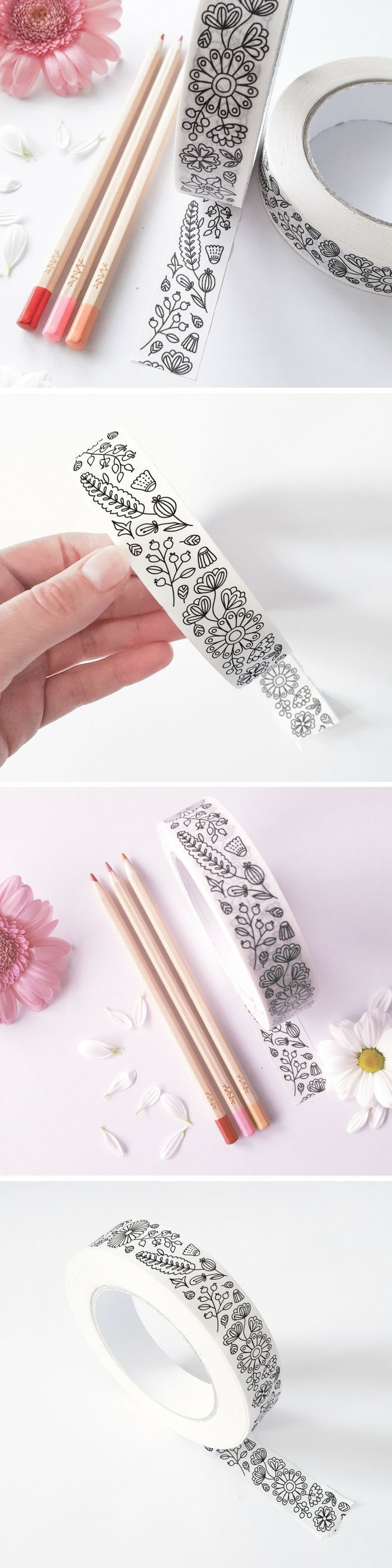 So much coloring fun!!! These floral patterns would be awesome to decorate my school notebooks! They work with pencils, which is pretty awesome for all paper crafts.