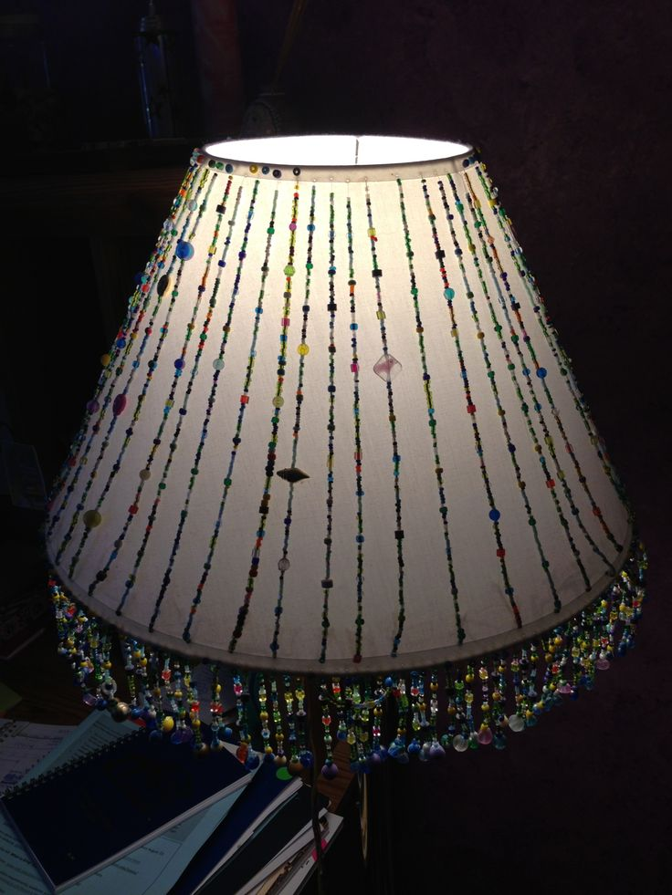 1000 ideas about homemade lamp shades on pinterest for How to make beaded chandelier lamp shades