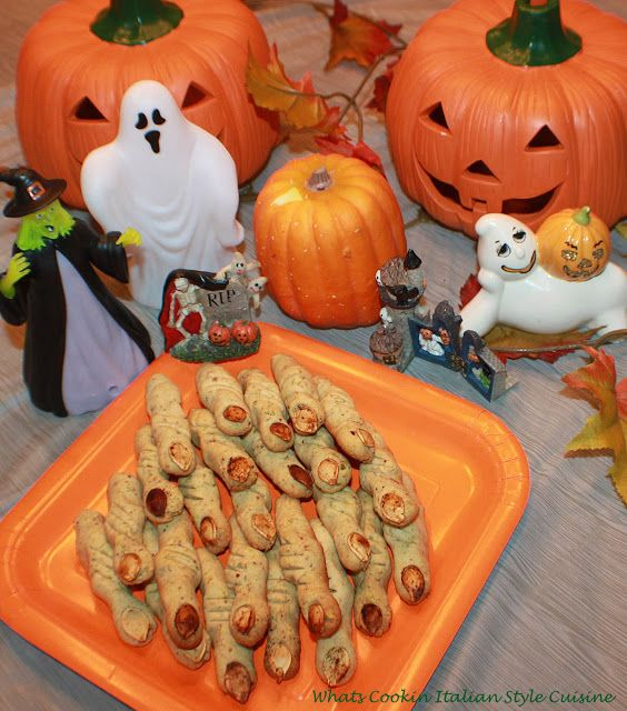 What's Cookin' Italian Style Cuisine: Halloween Pistachio Witches Finger Recipe