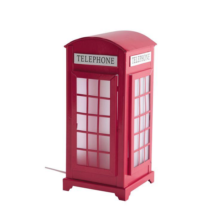 Lampe cabine UK rose Pinkplanet