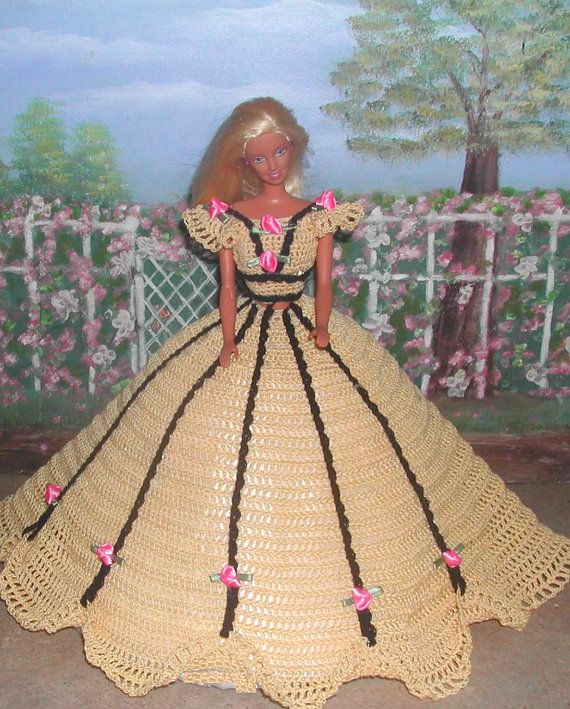 Crochet Fashion Doll Barbie  Pattern 552 by JudysDollPatterns