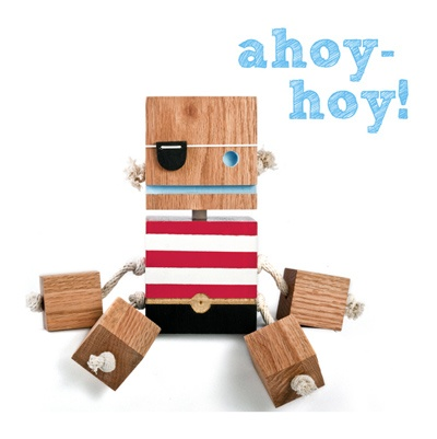 Cool block toy for toddlers.: Baby Products, Pirates, Craft, Wooden Toys, Baby Toys, Kids Toys