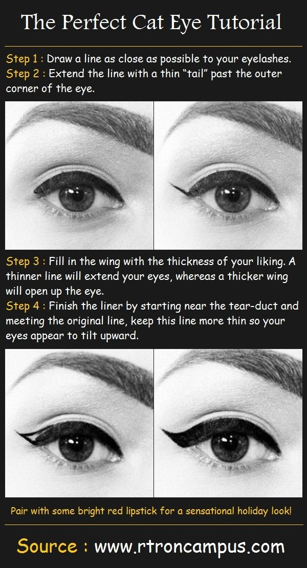 How to on cat eyes.  Why can't I ever do thus correctly?